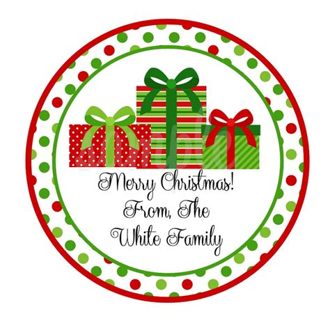 personalized wrapped christmas presents stickers