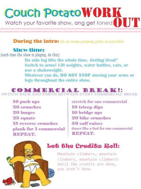 couch potato diet couch potato workout stay healthy pinterest