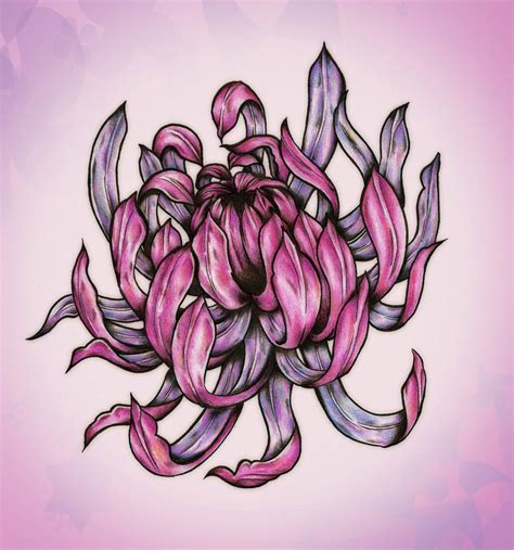 chrysanthemum flower tattoo designs chrysanthemum by blacksilence92 deviantart on