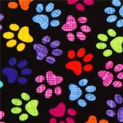 Puppy Comforter Imprimibles De Dise 241 O De Huellas De Perro De Colores De
