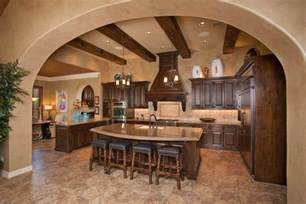 Tuscan Kitchen Lighting Charming Tuscan Kitchen Interior Design With A Marble Topped Island With Bar Stools And Pendant