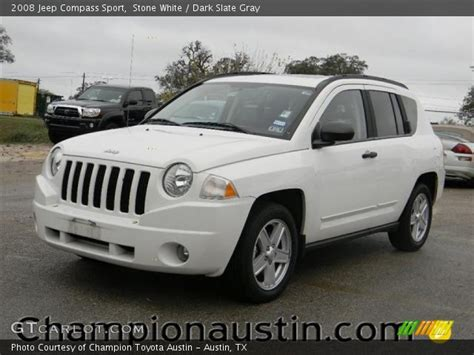 jeep compass sport white white 2008 jeep compass sport slate gray