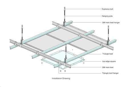 Dropped Ceiling Detail by Aluminum Ceiling Panel Suspended Metal Ceiling Buy Aluminum Ceiling Panel Metal Ceiling Clip