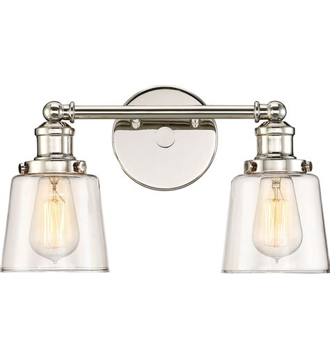 Quoizel Vanity Light Quoizel Uni8602pk Union Polished Nickel 2 Light Bath