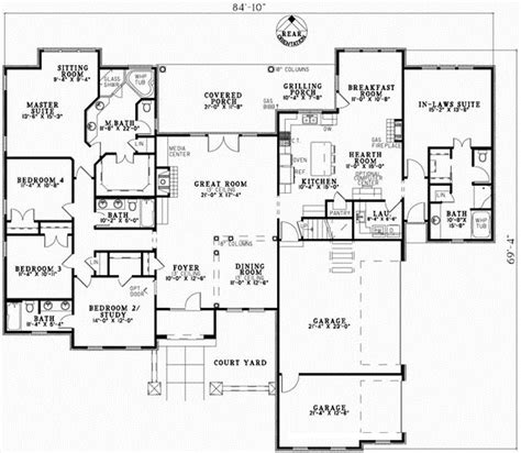 5 bedroom one story house plans tuscan house plan 5 bedrooms 4 bath 3003 sq ft plan 12 881