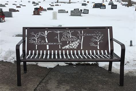 metal memorial benches custom metal memorial benches