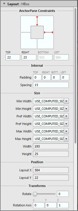 javafx manual layout javafx scene builder user guide defining properties in