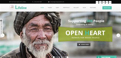 best templates for ngo website 50 best charity non profit html templates weelii