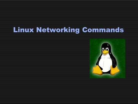 tutorial linux networking network troubleshooting ppt video online download