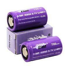 Efest Purple Imr 18350 Li Mn Battery 700mah 3 7v 10 5a efest 18350 battery lifesmoke vapors