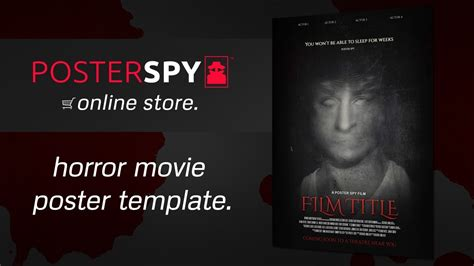 Poster Template Photoshop Www Pixshark Com Images Galleries With A Bite Horror Trailer Template Free
