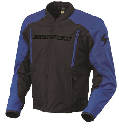 blue motorbike jacket scorpion exowear torque textile motorcycle jacket blue