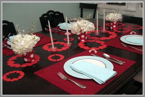 Table Cover Merah Polkadot Taplak Meja Merah Polkadot Grosir Murah kreasi manis meja makan romantis