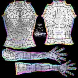 designing clothing for sl part 5 various uv map templates