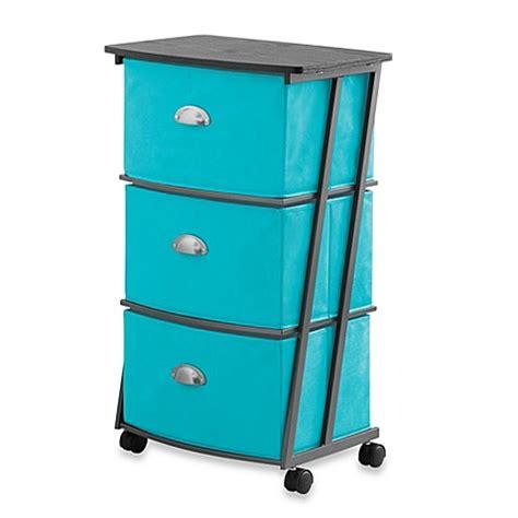 3 drawer storage cart buy studio 3b 3 drawer storage cart in peacock from bed