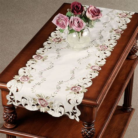 Shabby Home Decor by Bella Rose Embroidered Table Runners