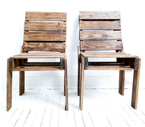 chaise en palette canap 233 chaise banc un meuble en palette pour tous