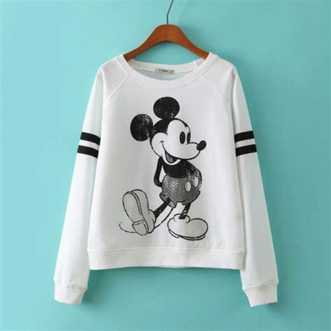 Sweater Micky Mouse Sweater Cowok Murah shirt sweater mickey mouse micky mouse sweater top white sweater disney wheretoget