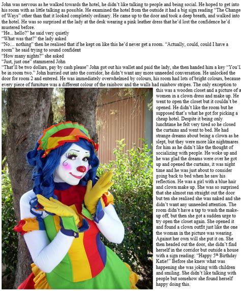 transgender chat room the change of ways room 2 clown tg caption by randomtgcaps on deviantart