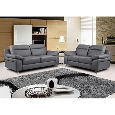 gray leather chair and ottoman nuvola italian inspired leather dark grey sofa collection