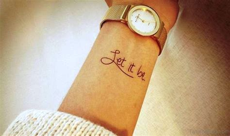 let it be wrist tattoo 31 decent let it be tattoos on wrist