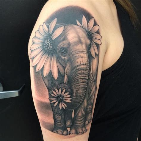 elephant and rose tattoo 269 best elephant tattoos images on