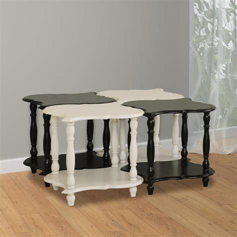 pulaski accents side table in black 641065 pulaski furniture black and white storage end table set