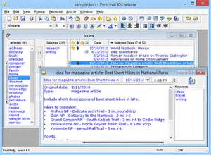 notes software personal knowbase writer s notes software