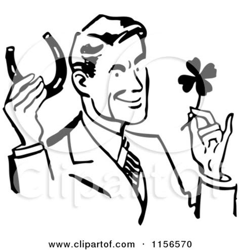 clipart illustration   black lucky horse shoe  andy