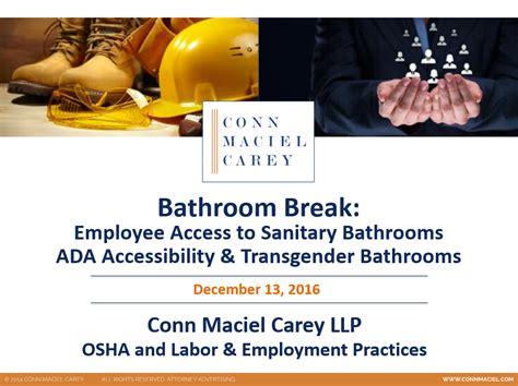 osha regulations for bathrooms bathroom break osha bathroom issues ada accessibility