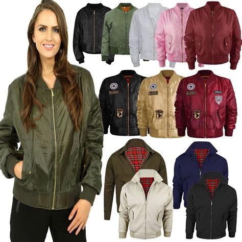 Jaket Bomber Army Jaket Wanita womens vintage bomber jacket plus size us army badges biker jacket uk6 26 ebay