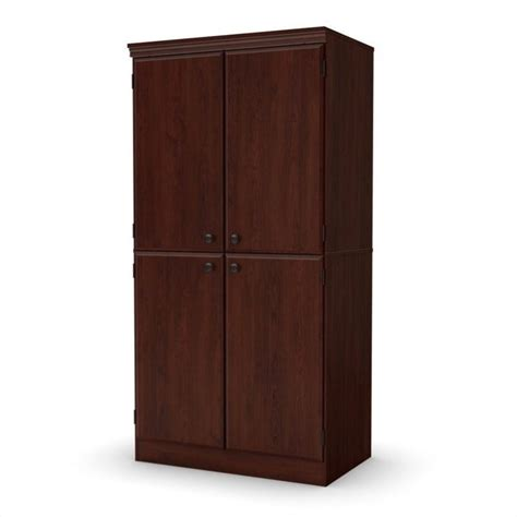 south shore storage cabinet south shore storage cabinet in royal cherry 7246971