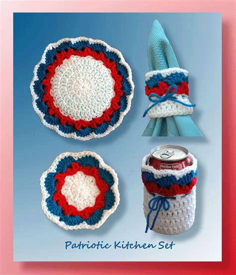 Kitchen Set July 310715 patriotic kitchen set crochet 4th of july patterns crochet kitchen pattern sets