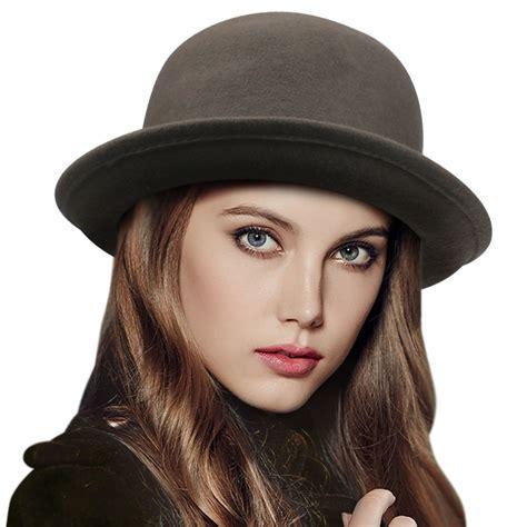 Stylish Hats 20 by 2016 Vintage Trendy Wool Felt Bowler Derby