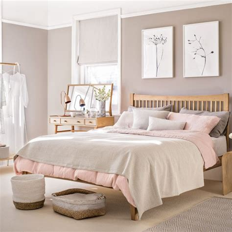 pale pink bedroom bedroom with pale pink paint palette and wooden furniture