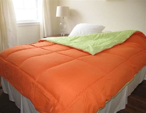 orange lime green reversible comforter twin xl putradwikora