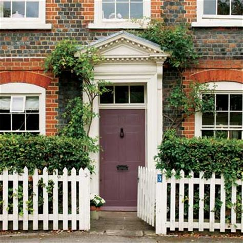 brick and eggplant personalize your front door with paint colors this house