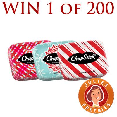 Free Holiday Giveaways - free chapstick holiday tin giveaway 200 winners julie s freebies