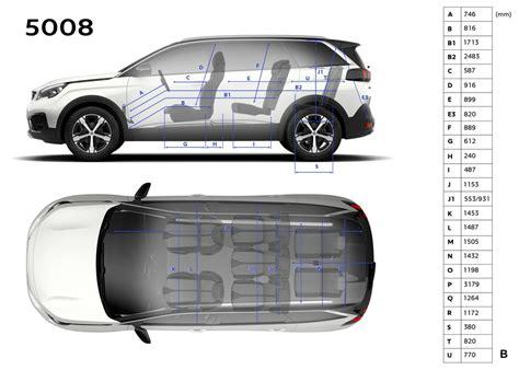 peugeot 5008 interior dimensions peugeot 5008 dimensions ext 233 rieures et int 233 rieures
