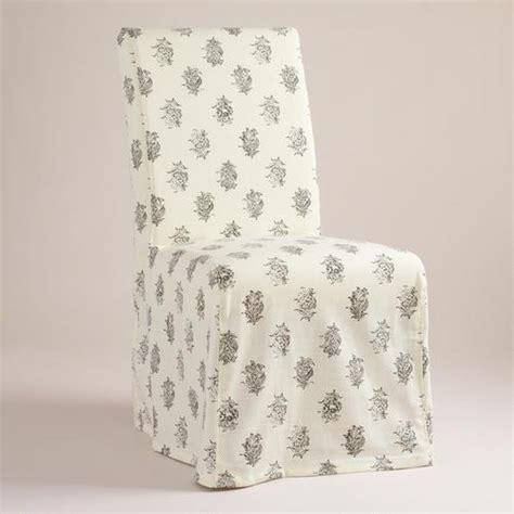 print chair slipcovers block print long anna chair slipcover world market