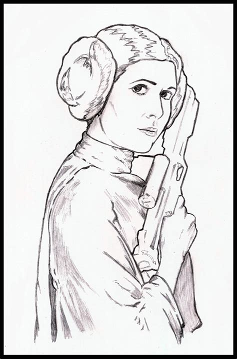 Star Wars Princess Leia Coloring Pages Sketch Coloring Page Princess Leia Drawings Free Coloring Sheets