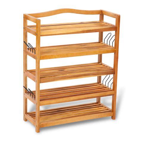 Shoe Shelf by Wooden 5 Tier Shoe Shelf Vidaxl