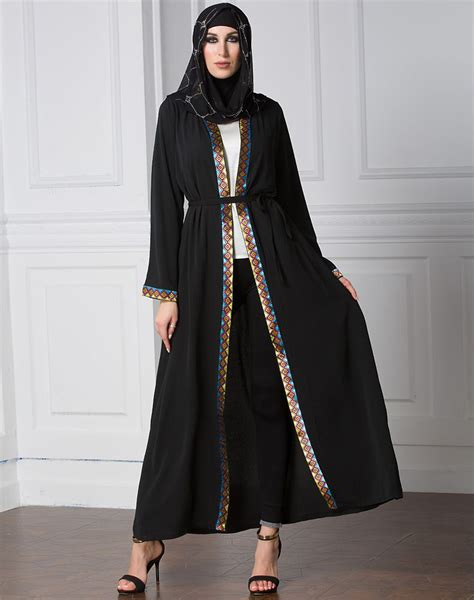 arabic dress 2017 abayas cardigan for muslim dress
