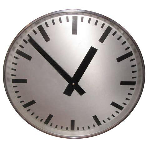 industrial wall clock large swiss 1940s industrial wall clock at 1stdibs