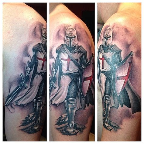 knight templar tattoo by johan avila apocalipsista miami