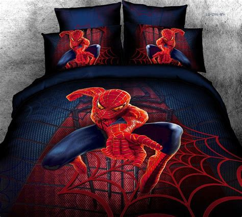 spiderman bedding set hot sale free shipping 100 pure cotton 3d spider man