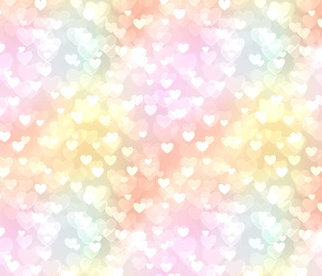 material theme colors and patterns pastel rainbow theme bokeh pattern 15 fabric