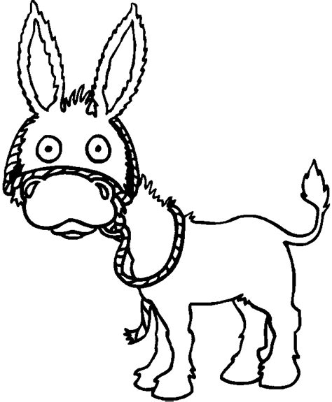 free coloring page donkey free of donkey coloring pages