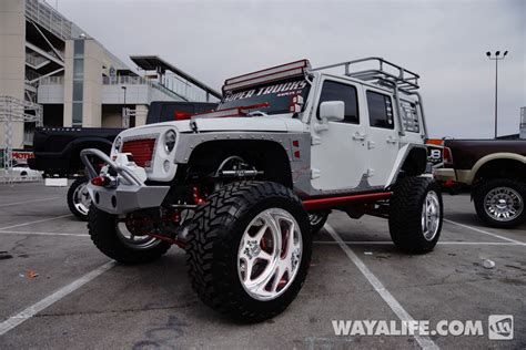 jeep jk white 2013 sema white supertrucks jeep jk wrangler 4 door