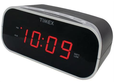 timex black electric alarm clock battery backup soft loud ebay